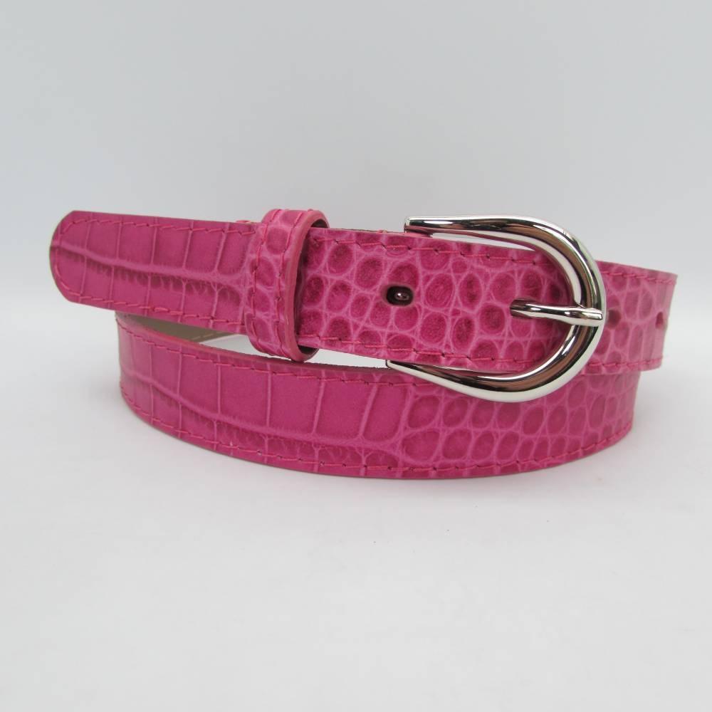 pink damen g rtel 2 5 cm breit 49 00. Black Bedroom Furniture Sets. Home Design Ideas
