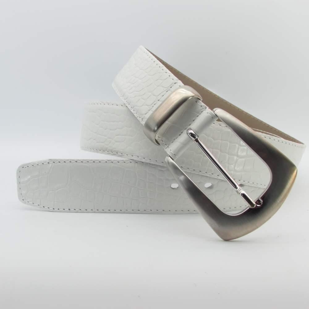 wie man serch zu verkaufen Vorschau von Weisser Damen Gürtel 4 cm breit, 69,00 €