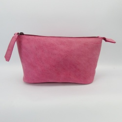 Kosmetiktasche- Leather Pouch pink