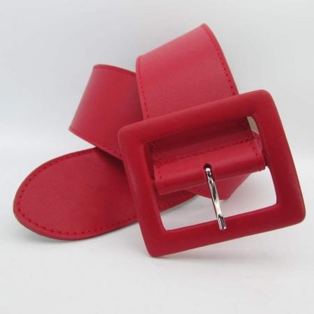 Roter Damen Nappaleder Gürtel 6 cm breit